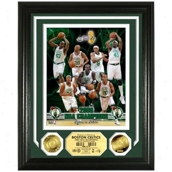 Boston Celtics 2008 Nba Finals Champions Photomint W/ 2 24kt Gold Coins