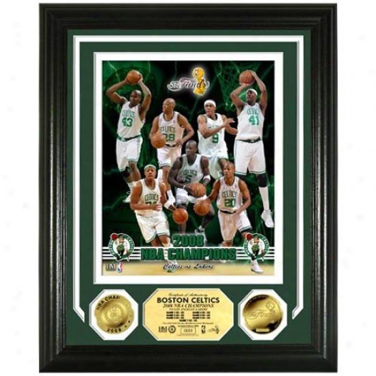 Boston Celtics 2008 Nba Finals Champions Photomint W/ 2 24kt Gold Coins