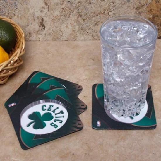 Boston Celtics 4-pack Subliat3d Logo Neoprene Coaster Set