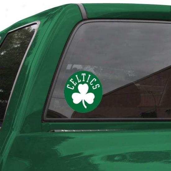 """b0ston Celtics 8"""" X 8"""" Color Team Logo Car Decal"""