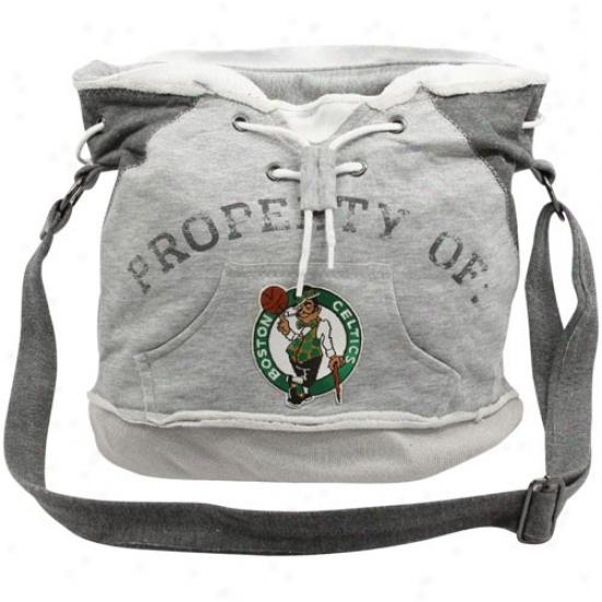 Boston Celtics Ash Hoody Tote Bag