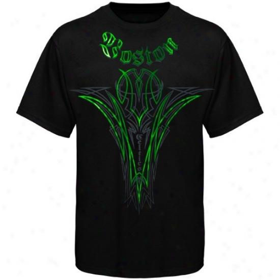 Boston Celtics Attire: Adidas Boston Celtics Black Continental T-shirt