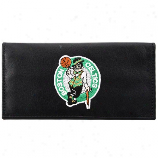 Boston Celtics Wicked Embroidered Leather Checkbook Cover