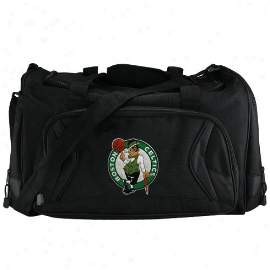 Boston Celtics Black Fly-by Duffel Bag
