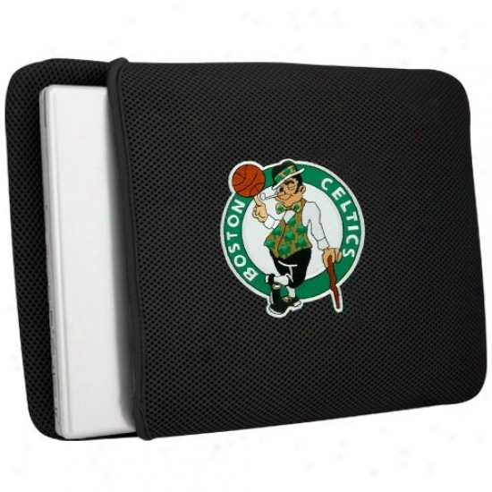 Boston Celtics Black Mesh Laptop Protecor