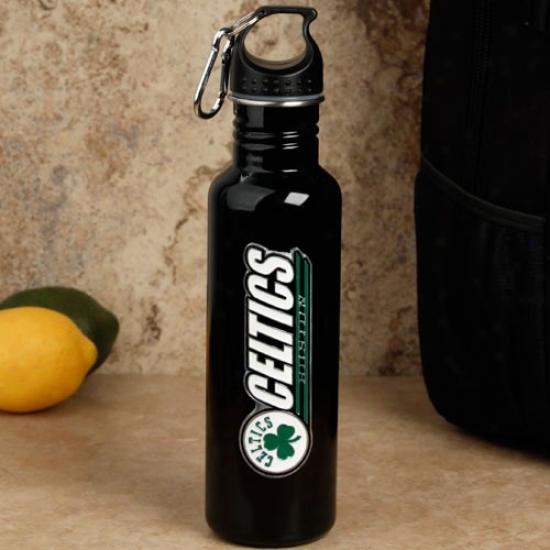 Boston Celtics Black Stainless Steel Water Bottle