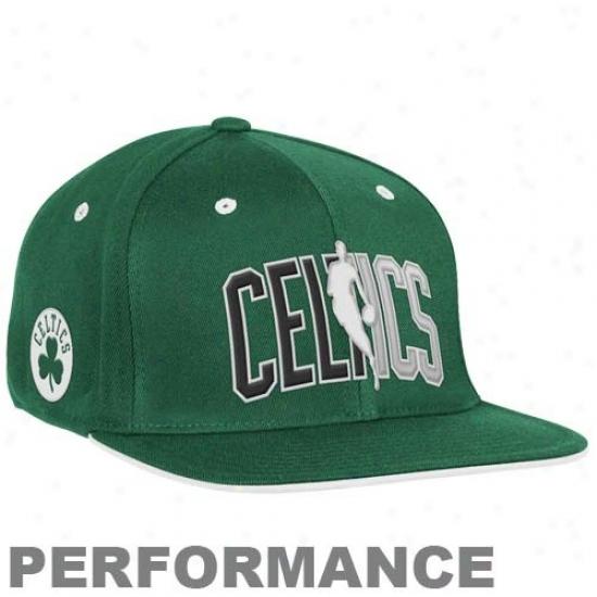 Boston Celtics Gesr: Adidas Boston Celtics Kelly Green Official Draft Day Fitted Hat