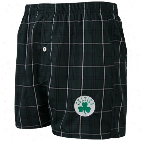 Boston Celtics Green Plaid Genuine Boxer Shorts