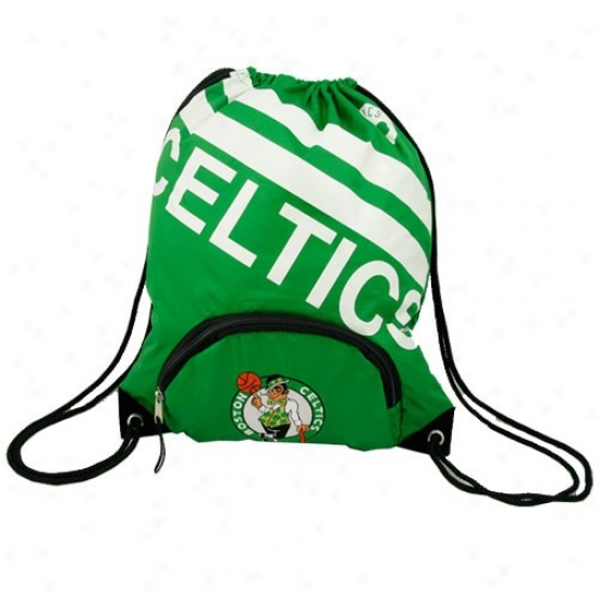 Boston Celtics Green Team Logo Drawstring Backpack