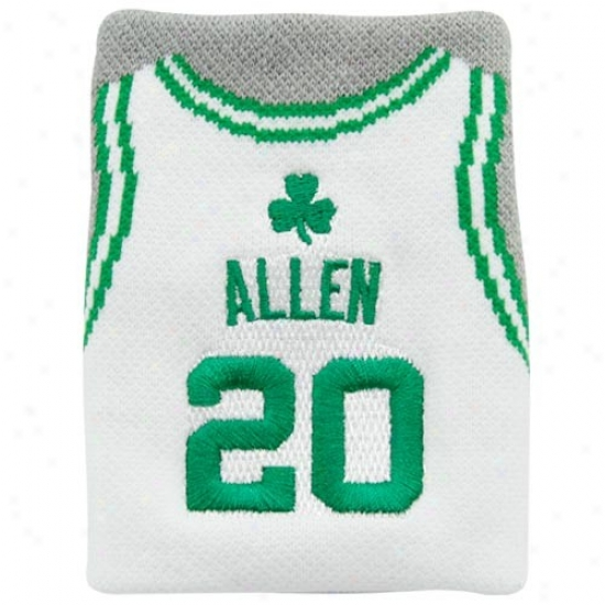 Bpston Celtics Hat : Boston Celtics #20 Ray Allen White Team Jersey Wristband