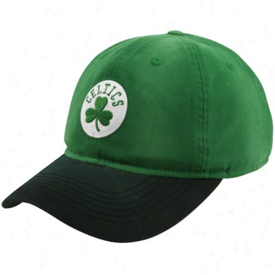 Boston Celtics Hats : Adidas Boston Celtics Kelly Green Basic Logo Adjustable Slouch Hats