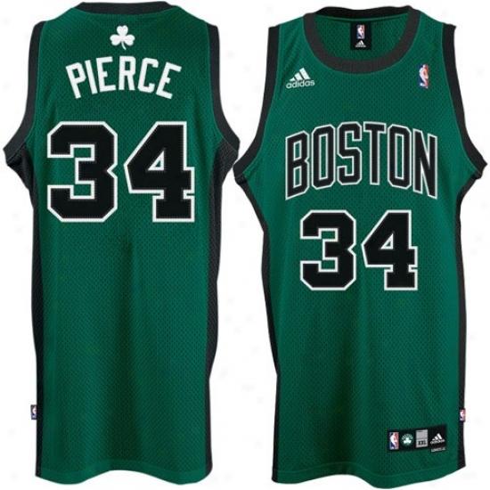 Boston Celtics Jersey : Adudas Boston Celtics #34 Paul Pierce Flourishing 2nd Road Swingman Basketball Jersey