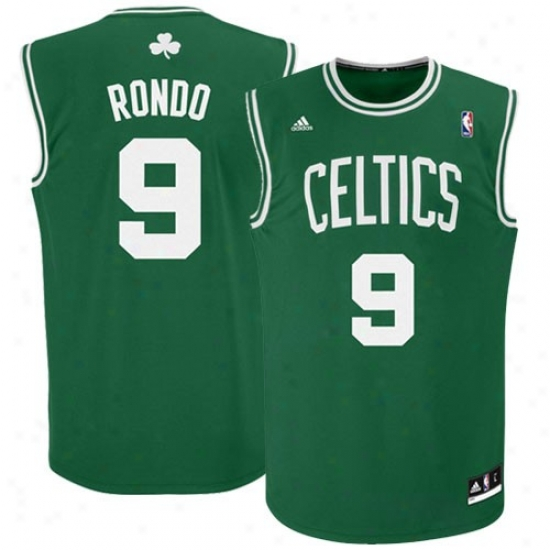 Boston Celtics Jersey : Adidas Rajon Rondo Boston Celtics New Replica Jersey-#9 Kelly Green