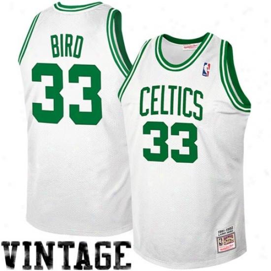 Boston Celtics Jersey : Mitchell & Ness Boston Celtics #33 Larry Bird 1992 Authentic Hardwood Classics Jersey - White