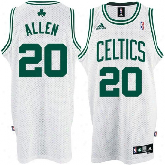 Boston Celtics Jerseys : Adidas Boston Celtics #20 Ray Allen White Home Swingman Jerseys