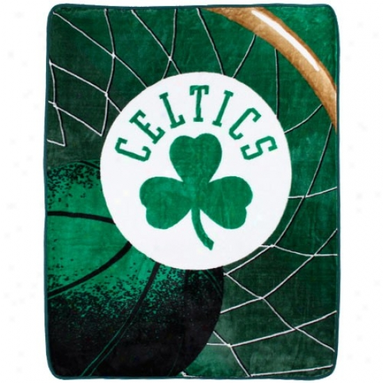 Boston Celtics Kelly Green Reflrct Imperial Plush Blanket Jigger
