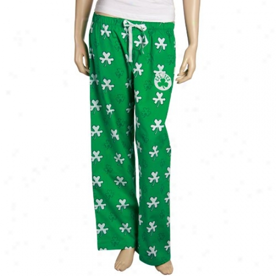 Boston Celtics Ladies Kelly Green Fortune Pajama Pants