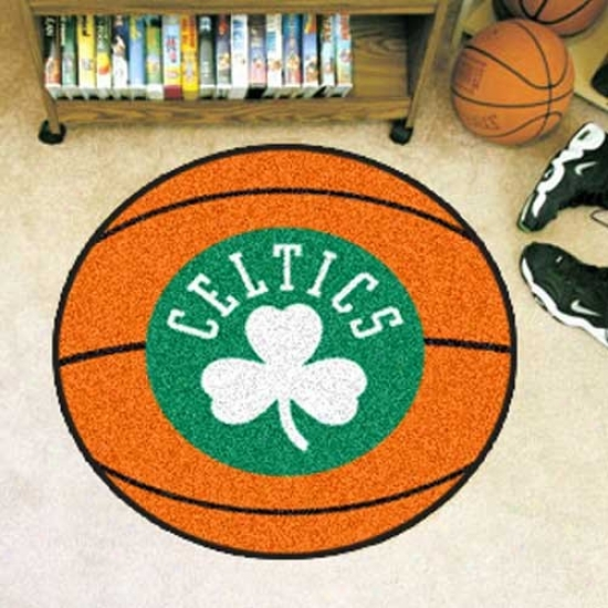 Boston Celrics Orange Round Basketball Mat