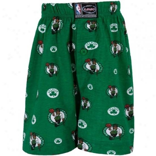Boston Celtics Preschool Kelly Green All-over Print Boxer Snorts
