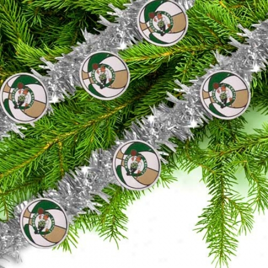 Boston Celtics Silver 12' Team Wreath