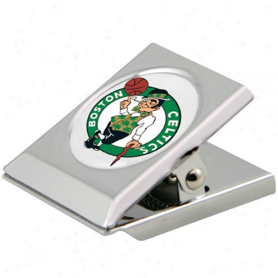 Boston Celtics Silver Heavy-duty Magnetic Chip Clip