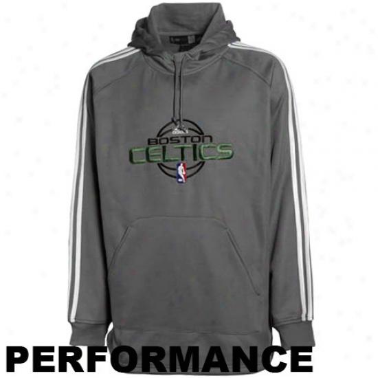 Boston Celtics Sweat Shirt : Adidas Boston Celtics Charcoal Practice Perfprmance Sweat Shirt
