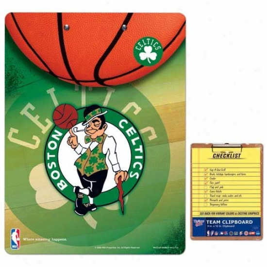 Boston Celtics Team Logo Clipboard
