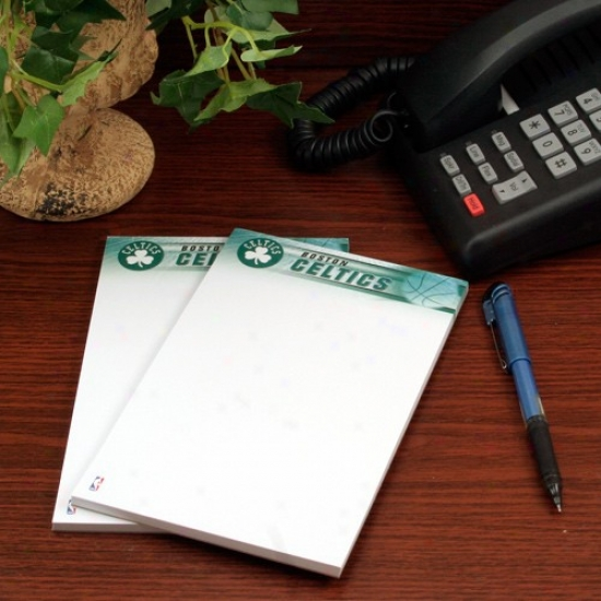 Boston Celtics Two-pack 5'' X 8'' Team Logo Notepads