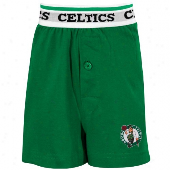 Boston Cwltics Youth Kelly Green Solid Banded Boxer Shorts