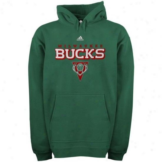 Bucks Hoodie : Acidas Bucks Green True Court Hoodie