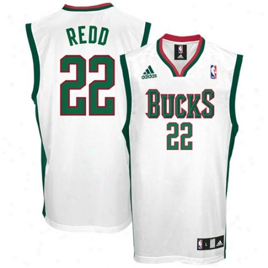 Bucks Jerseys : Adidas Bucks #22 Michael Redd White Replica Basketball Jerseys