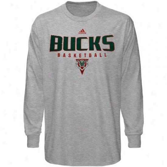 Bucks Shirta : Adidas Bucks Ash Absolute Long Sleeve Shirts