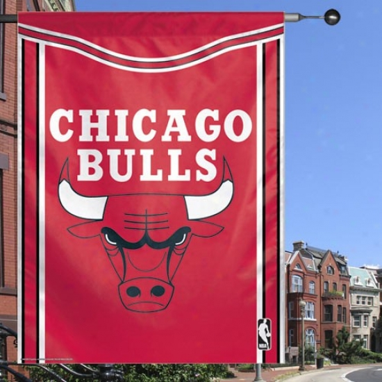 Bulls Banners : Bulls Red 27'' X 37'' Vertical Banners Banners