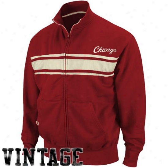 Bulls Jackets : Bulls Heather Red Race Legends Track Jackets