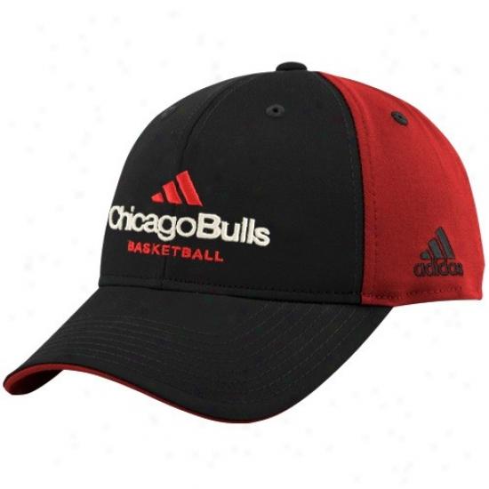 Bulls Merchandise: Adidas Bulls Black-red Multo Team Color Structured Hat