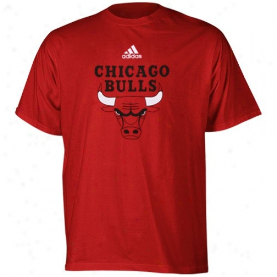 Bulls Shkrt : Adidas Buls Young men Red Primary Logo Shirt
