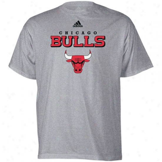 Bulls T Shirt : Adidas Bulls Ash True Court T Shirt