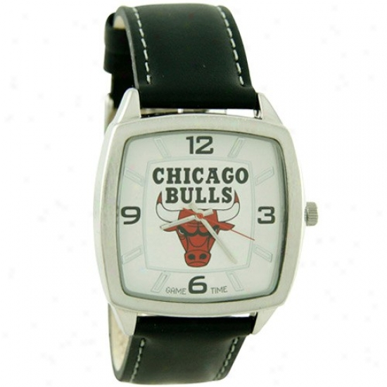 Bulls Watch : Bulls Retro Watch W/ Leather Band