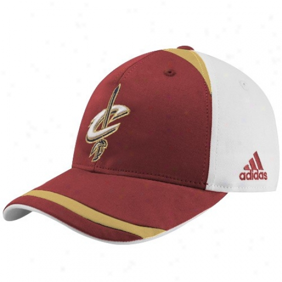 Cavaliers Cap : Adidas Cavaliers Wine Structured Adjustable Cap