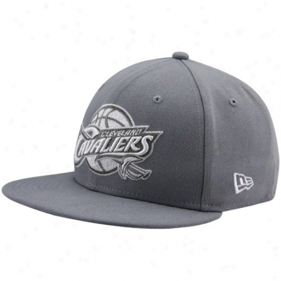Cavaliers Cap : New Era Cavaliers Gray League 59fifty Fitted Cap