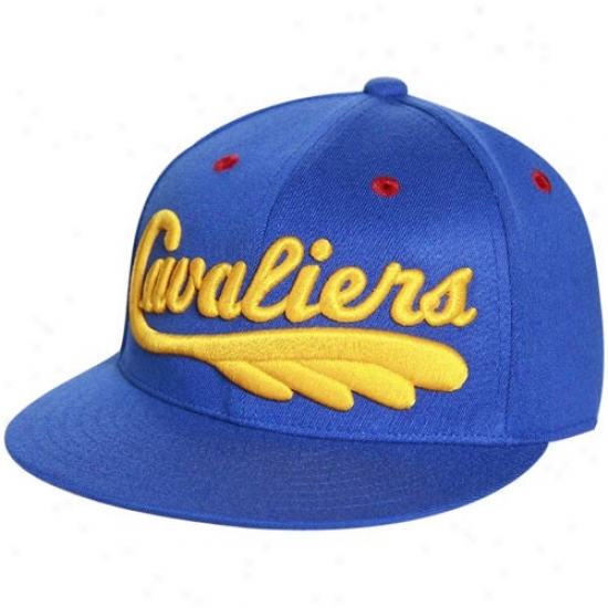 Cavaliers Gear: Adidas Cavaliers Royal Blue 210 Fiitted Flexfit Flay Brim Hat
