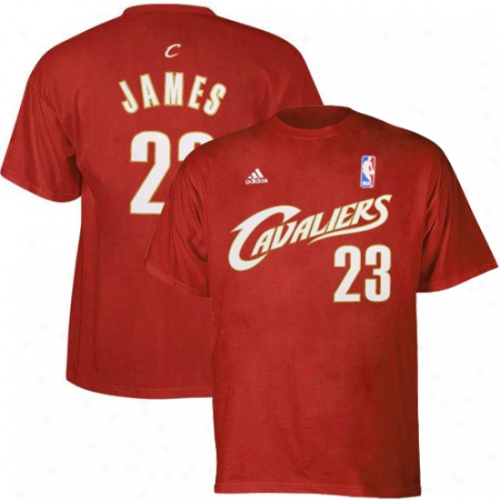 Cavaliers Shirts : Adidas Cavaliers #23 Lebron James Youth Wine Gamester Shirts