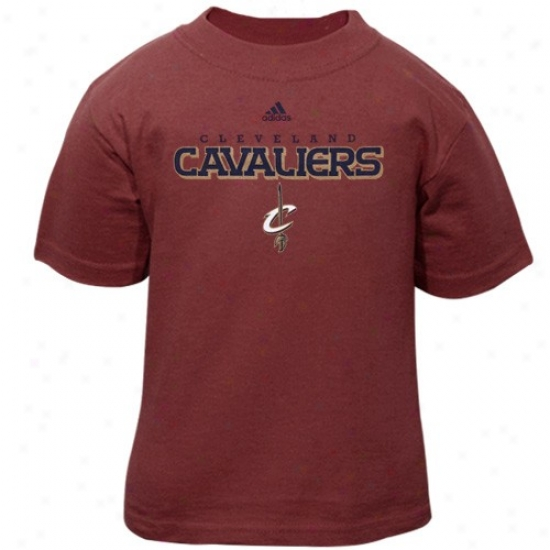 Cavaliers Shirts : Adidas Cavaliers Toddler Wine Primary Logo Shirts