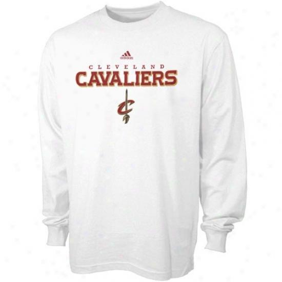 Cavaliers Tee : Adidas Cavaliers White True Long Sleeve Tee