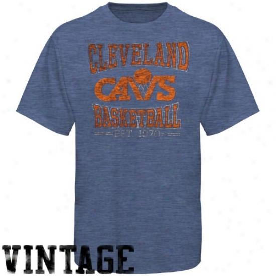 Cavaliers Tee : Banner '47 Cavaliers Haether Blue Basketball Premium Vintage Tee