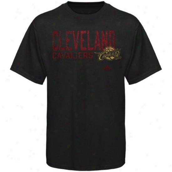 Cavaliers Tshirts : Adidas Cavaliers Black Fringed Tshirts
