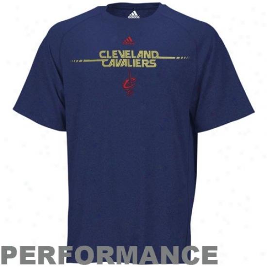Cavaliers Tshirts : Adidas Cavaliers Navy Blue On The Line Performance Tshirts