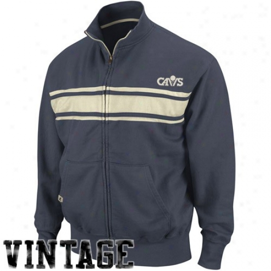 Cavs Jackte : Cavs Navy Blue Race Legends Track Jacket
