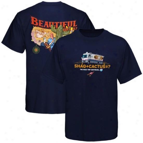 Cavs Tshirts : Sportiqe-espn Cavs #33 Shaquille O'neal Navy Blue Rv Road Trip Tshirts