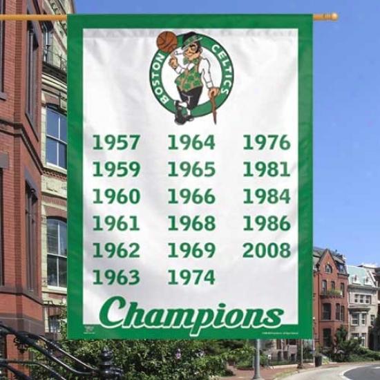 """celtics Banner : Celtics 27"""" X 37"""" Championship Yearx Vertical Banner Bannr"""